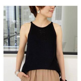 アパルトモンドゥーズィエムクラス(L'Appartement DEUXIEME CLASSE)のアパルトモン  H/N Knit Top ブラック 新品 (ニット/セーター)