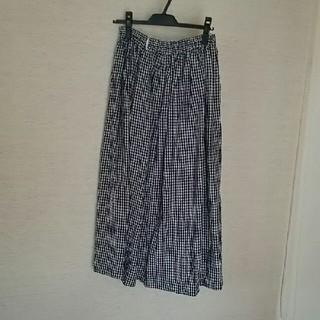 ネストローブ(nest Robe)の☆イチアンティーク☆ネイビーギンガムチェックスカート(ロングスカート)
