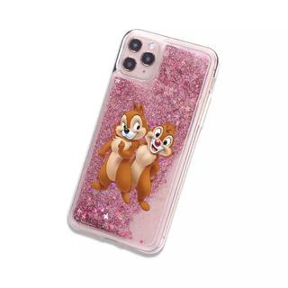 チップ&デール - 新品 ディズニー グリッターiPhoneケース チップとデール 携帯カバー