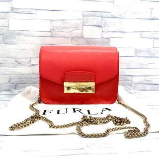 フルラ(Furla)の美品 FURLA フルラ メトロポリス チェーン ショルダーバッグ(ショルダーバッグ)
