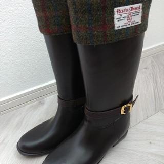 シマムラ(しまむら)のレインブーツ ロングタイプ ハリスツイード Lサイズ(レインブーツ/長靴)