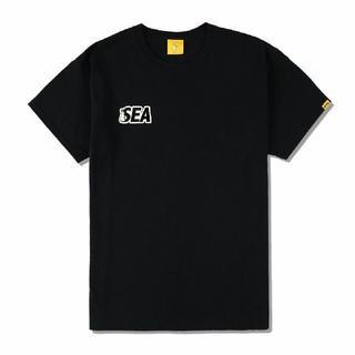 Lサイズ WIND AND SEA × #FR2 Tee Black(Tシャツ/カットソー(半袖/袖なし))