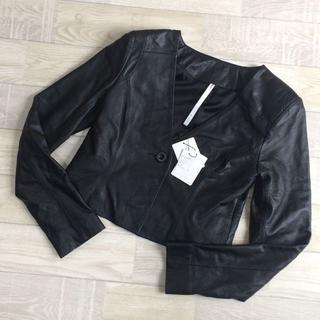 ムルーア(MURUA)の【ムルーア】新品 レザージャケット ブラック Sサイズ 羊革(ライダースジャケット)