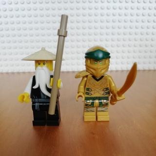 レゴ(Lego)のレゴ ニンジャゴー ミニフィグ ゴールデンロイド、ウー先生(キャラクターグッズ)