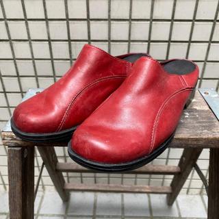 クラークス(Clarks)のビンテージ clarks クラークス サボサンダル スリッポン レザーシューズ(ローファー/革靴)