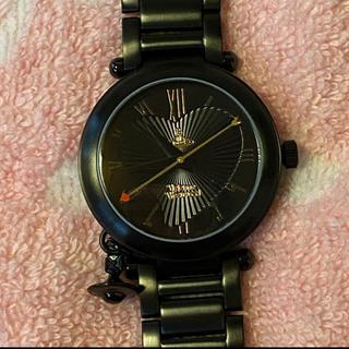 Vivienne Westwood - ヴィヴィアンウエストウッド 黒 タイムマシン 腕時計 ハート オーブ