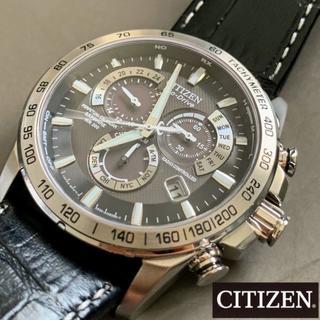 シチズン(CITIZEN)のシチズン 電波ソーラー クロノグラフ CITIZEN エコドライブ メンズ腕時計(腕時計(デジタル))