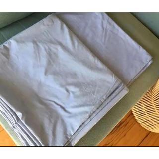 ニトリ(ニトリ)のニトリ 掛け布団カバー ブルー ダブル 2枚セット☆(シーツ/カバー)
