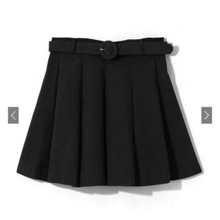 GRL - 【GRL】ベルト付きタックフレアスカート