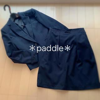 ニッセン(ニッセン)の洗えるスーツ上下セット5号ネイビー プチリボン付き(スーツ)