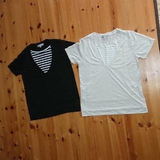 ニシマツヤ(西松屋)のマタニティ授乳Tシャツ2枚セット(マタニティトップス)