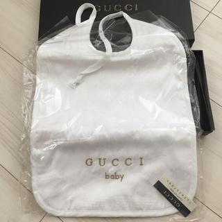 グッチ(Gucci)の新品未開封・箱付き★GUCCI スタイ★(ベビースタイ/よだれかけ)
