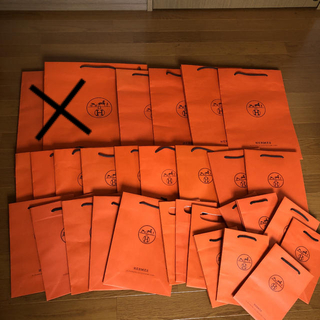 エルメス(Hermes)の出品終了!最後の値下げ^ - ^エルメスショップ袋紙袋30枚(ショップ袋)