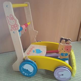 ニシマツヤ(西松屋)のミテミテ木製押し車(手押し車/カタカタ)