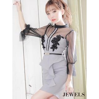 ジュエルズ(JEWELS)のJewels 新品未使用タグ付き ロングスリーブキャバドレス(ナイトドレス)