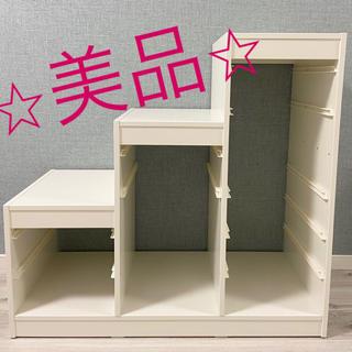 イケア(IKEA)の美品 IKEA イケア トロファスト おもちゃ 収納 白(収納/チェスト)