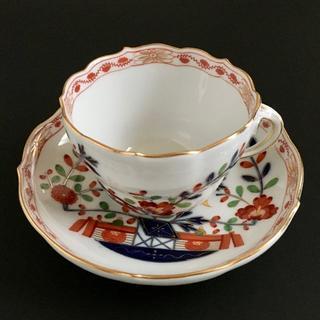 マイセン(MEISSEN)の古マイセン 金彩 柿右衛門写し 小テーブルのパターン コーヒーC&S(食器)