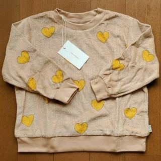 コドモビームス(こどもビームス)の新品未使用 tinycottons トレーナー ハート 4y(Tシャツ/カットソー)