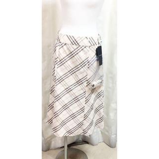 バーバリー(BURBERRY)の未使用 バーバリー チェック スカート ベルト付き 18616605(ロングスカート)