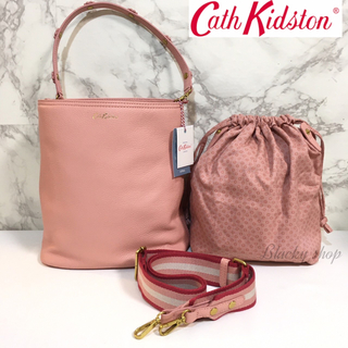Cath Kidston - 【まとめ割】未使用 キャスキッドソン ショルダー ハンド バッグ  本革 レザー