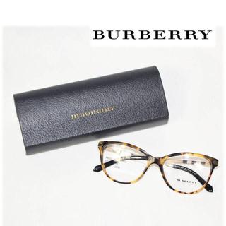 バーバリー(BURBERRY)の《バーバリー》新品 ライトハバナ 眼鏡フレーム 伊達メガネ ゴールド(サングラス/メガネ)