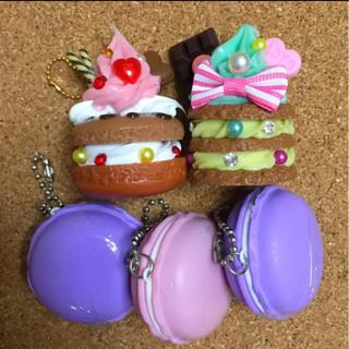 お菓子サンプル マカロン  キーホルダー 5点セット(その他)