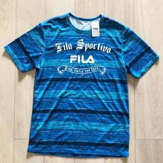 フィラ(FILA)の新品 FILA 水陸両用 ラッシュガード Tシャツ BL L(水着)