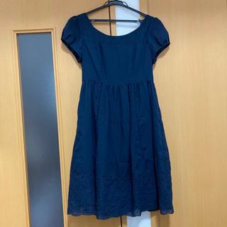 クリアインプレッション(CLEAR IMPRESSION)の美品!裾刺繍ワンピース(ひざ丈ワンピース)