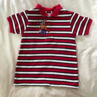 Disney - 【USED古着 Kids】プーさん刺繍ポロシャツ