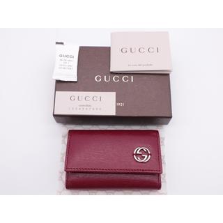 グッチ(Gucci)の《GUCCI/インターロッキングG6連キーケース》 ABランク レッド 美品(キーケース)