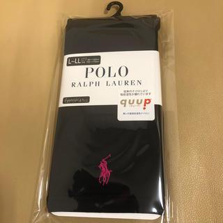 ポロラルフローレン(POLO RALPH LAUREN)の新品 レディース  ポロラルフローレン 10分丈濃紺レギンス L〜LL寸 日本製(レギンス/スパッツ)