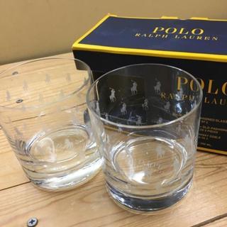 ポロラルフローレン(POLO RALPH LAUREN)の新品【ポニー柄】★ラルフ★オシャレ!ロゴいっぱいグラス/コップ/箱付き(グラス/カップ)