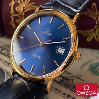 オメガ(OMEGA)の【新品仕上げ】オメガ デヴィル 18KGP ヴィンテージ クォーツ メンズ腕時計(腕時計(アナログ))