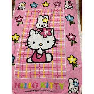 ハローキティ(ハローキティ)のキティ タオルケット シングルサイズ(毛布)