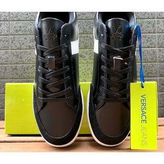 ヴェルサーチ(VERSACE)の新品 28cm ヴェルサーチ Jeans イタリア レザー靴 29,800円(スニーカー)