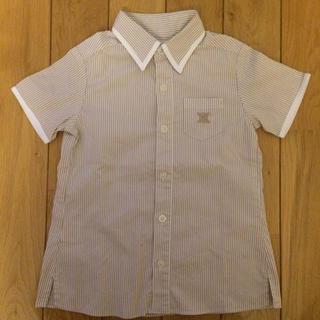 セリーヌ(celine)のセリーヌ シャツ 100 半袖 白 ベージュ ストライプ ボタンシャツ(ブラウス)