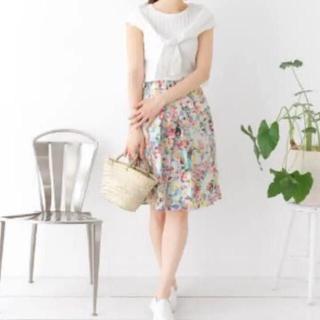 ドアーズ(DOORS / URBAN RESEARCH)のアーバンリサーチ  ドアーズ スカート 花柄(ひざ丈スカート)