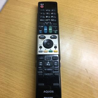 アクオス(AQUOS)の【お値下げ】アクオス AQUOS リモコン 美品(テレビ)