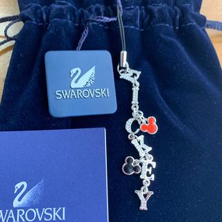 スワロフスキー(SWAROVSKI)のミッキー スワロフスキー ストラップ 値下げしました。(キーホルダー/ストラップ)
