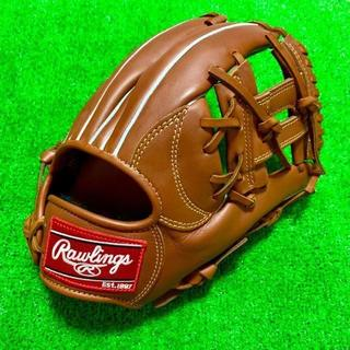 Rawlings - 新品 高校野球対応 ローリングス 硬式用 内野手用 グローブ ブラウン Hウェブ