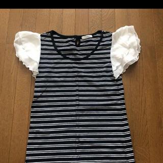 シマムラ(しまむら)のボーダー Tシャツ トップス(Tシャツ/カットソー(半袖/袖なし))