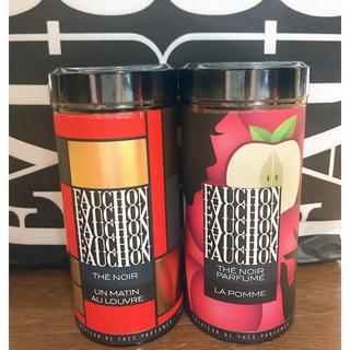 タカシマヤ(髙島屋)の2缶 フォション 紅茶マタン・オ・ルーブル&フレーバーティー アップル(茶)