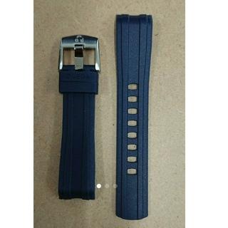 オメガ(OMEGA)の値下げ 未使用品 OMEGA ラバーベルト+尾錠セット   20ミリ ネイビー(ラバーベルト)