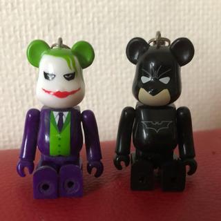 メディコムトイ(MEDICOM TOY)のバットマン&ジョーカー☆ベアブリック(ストラップ)