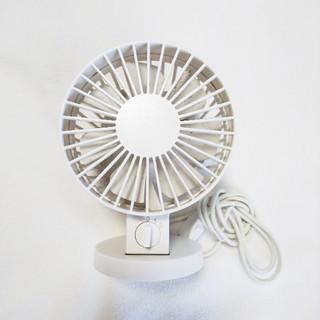 ムジルシリョウヒン(MUJI (無印良品))の無印良品 ☆ サーキュレーター USBデスクファン ホワイト(扇風機)