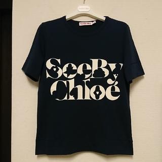 シーバイクロエ(SEE BY CHLOE)の新品、未使用 SEE BY CHLOE ロゴ クルーネック Tシャツ(Tシャツ(半袖/袖なし))