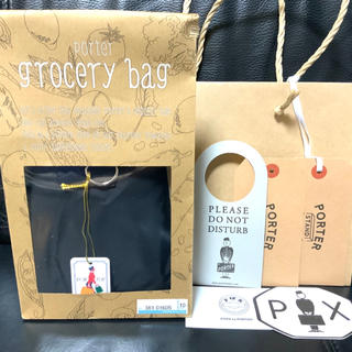 ポーター(PORTER)のPORTER / GROCERY BAG GMS エコバッグ ポーター 黒 大(エコバッグ)