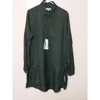 Jil Sander - 新品未使用 ジルサンダー 18ss ロングシャツ グリーン