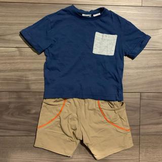 ザラキッズ(ZARA KIDS)の【セット】ZARA * Tシャツ + ノーブランド * 半ズボン(Tシャツ)