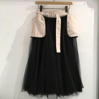 リルリリー(lilLilly)の☆完売品☆whipstaffチュールスカート(black×beige)(ロングスカート)
